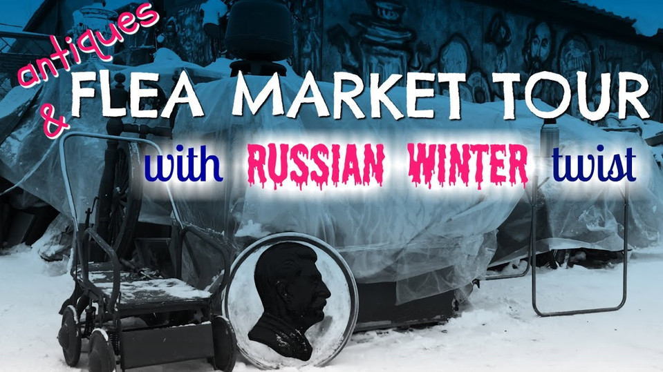 Russian FLEA MARKET under SNOW