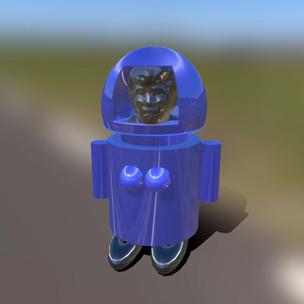 Self Portrait in Robot Gear