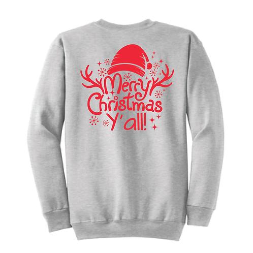 Merry Christmas Yall Core Fleece Crewneck Sweatshirt
