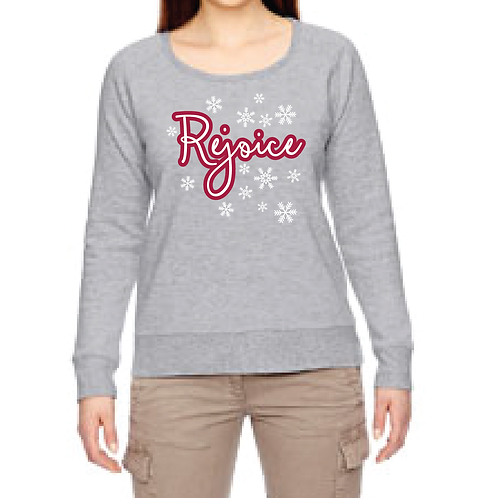 Rejoice econscious Ladies'Organic/Recycled Heathered Fleece Raglan Pullover