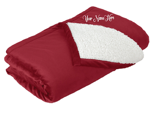 Embroidered Port Authority® Mountain Lodge Blanket