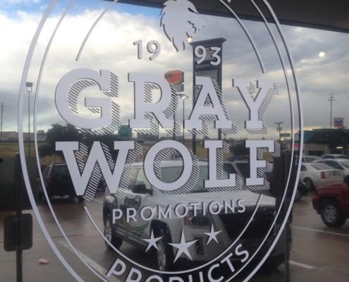 Gray Wolf Window Decal
