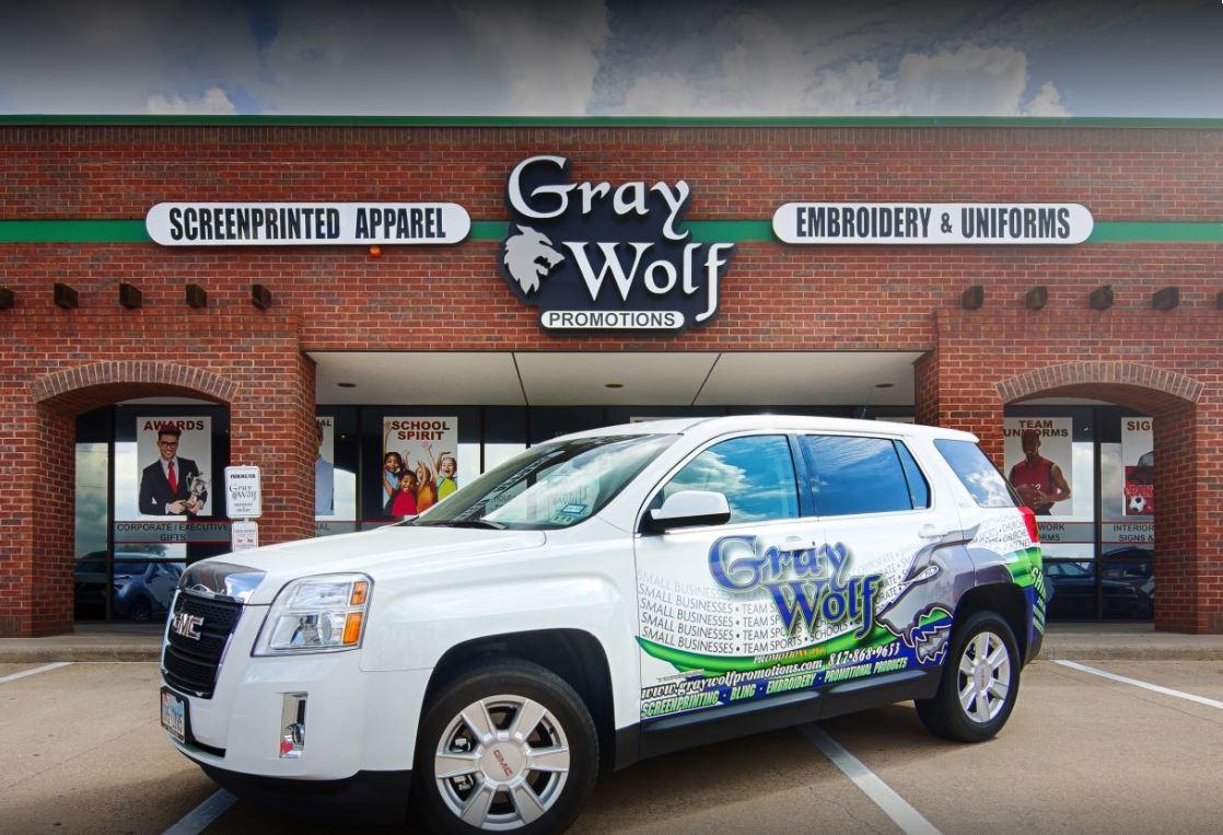 Gray Wolf Vehicle Wrap