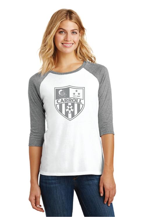 Ladies Baseball Crest Tee