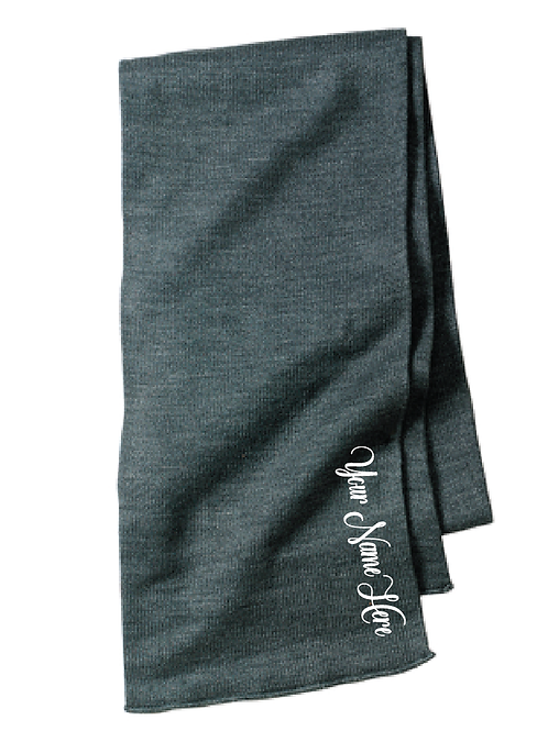 Embroidered Port & Company® - Knitted Scarf