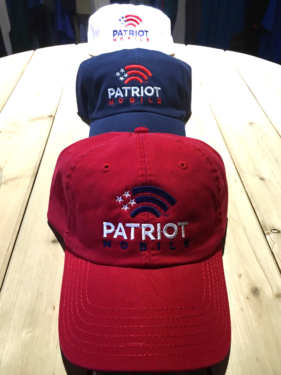 Patriot Mobile Embroidered Hats