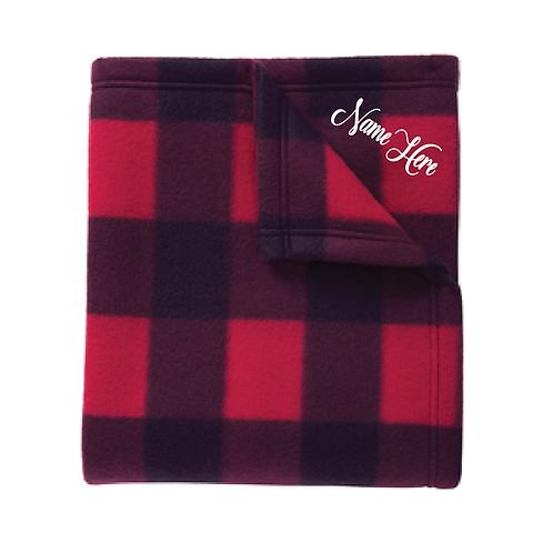Embroidered Port Authority® Core Printed Fleece Blanket