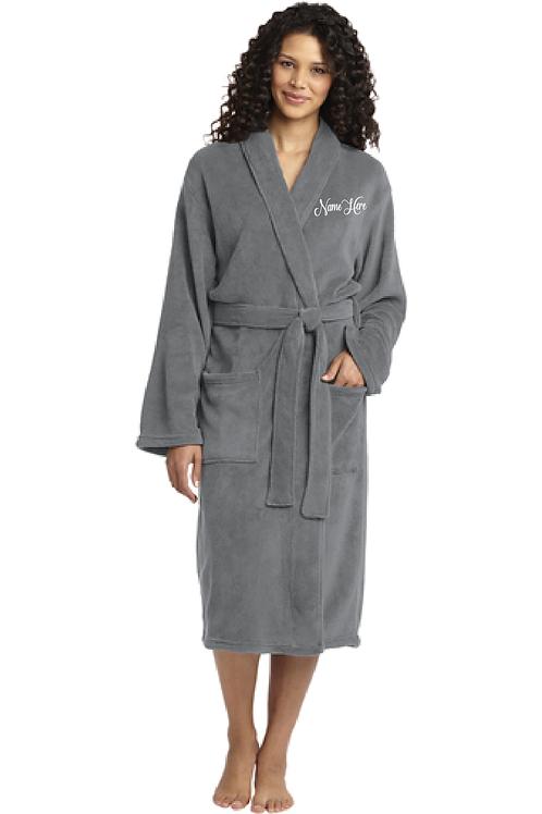 Embroidered Port Authority® Plush Microfleece Unisex Robe