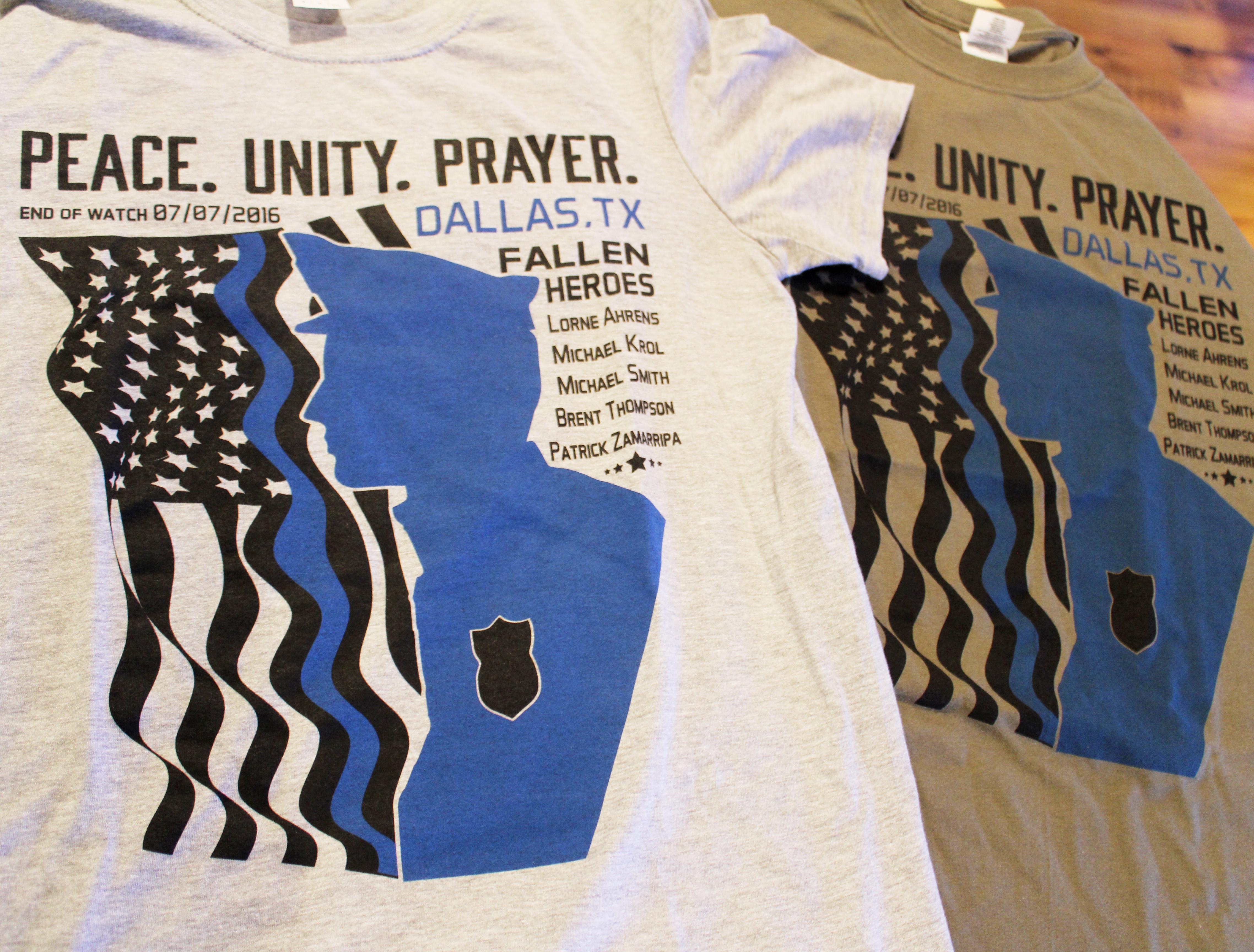 Dallas Fallen Officer Benefit Shirts