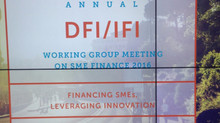 DFI/IFI Working Group Meeting on SME Finance 2016