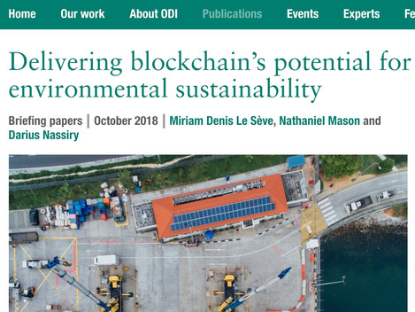Blockchain for environmental sustainability