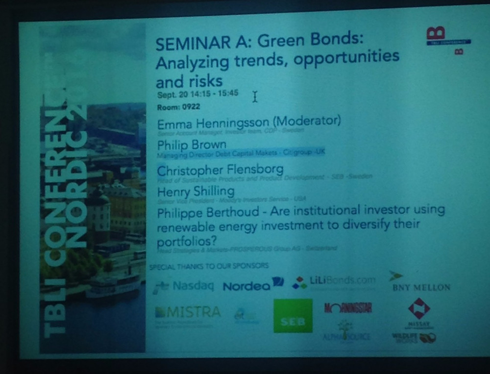 TBLI Sweden 2016 Green Bonds Analyzing trends, opportunities and risks
