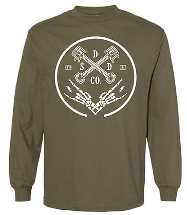 Piston Ring Mens Long Sleeve Tee - Military Green