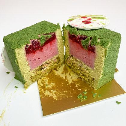 Pistachio French Mousse-Based Dessert