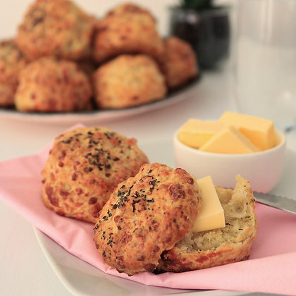 Garlic and cheese savoury scones are twisted version of scones which are best with butter for afternoon tea