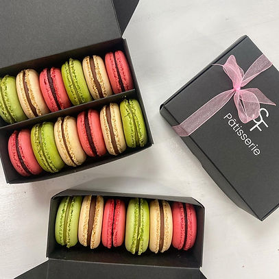 Real French Macarons, Variety of flavours, Pistachio, Coffee, Espresso, Raspberry, Chocolate, comes in different pastel colours. They handcrafted and taken individual care of creation process by Aiste Berlinskaite & Karolis Juskenas. Only at SugarFall Patisserie 153 Byres Road, Glasgow, West End.