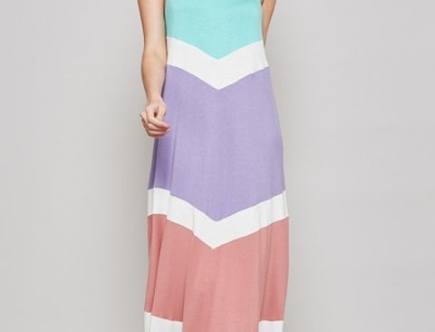 Multi-color Spaghetti Maxi Dress