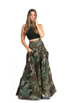 Army Maxi Skirt