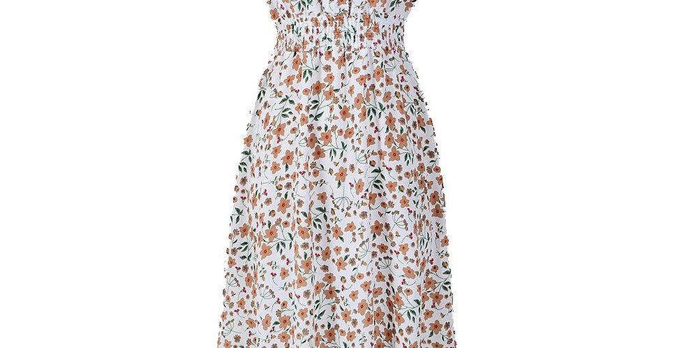Midi  Floral Print Dress Women