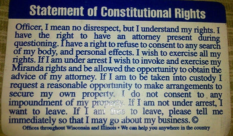 Statement of Constitutional Rights