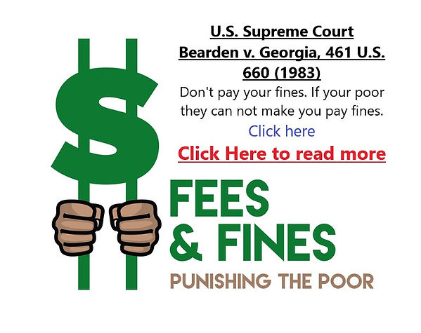 Don't pay your fines link image
