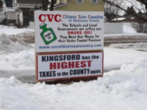 Kingsford has highest taxes