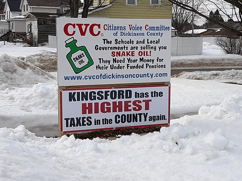 Kingsford has highest taxes