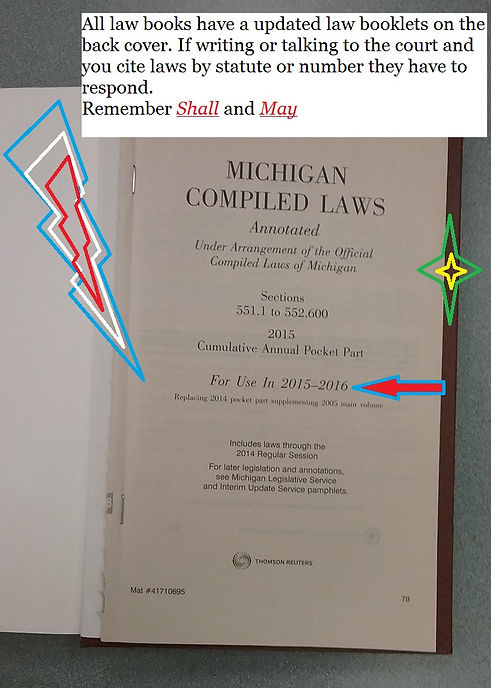 Updated Law booklet back cover