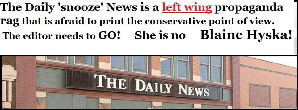 Daily news news daily snooze left wing rag