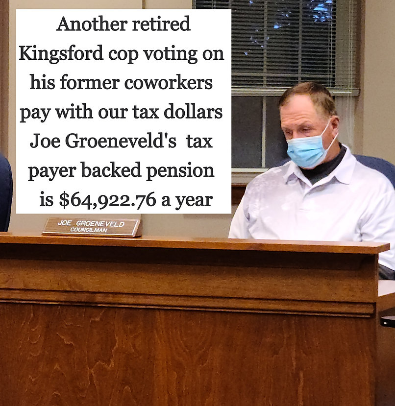 Joe Greneveld conman big pension lousy roads