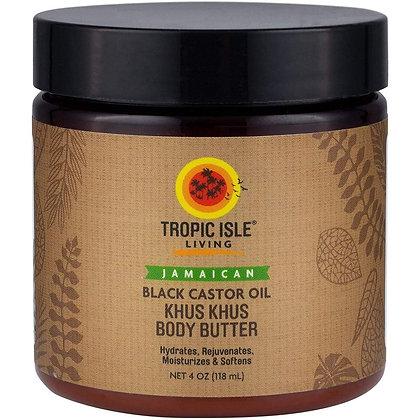 Tropic Isle Living Jamaican Black Castor Khus Khus Body Butter
