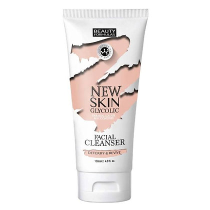 Beauty Formulas New Skin Glycolic Facial Cleanser