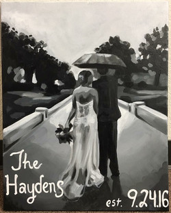 Painted Wedding Commission