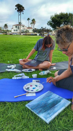 Yoga and Paint
