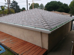 beautiful roof with new gutters