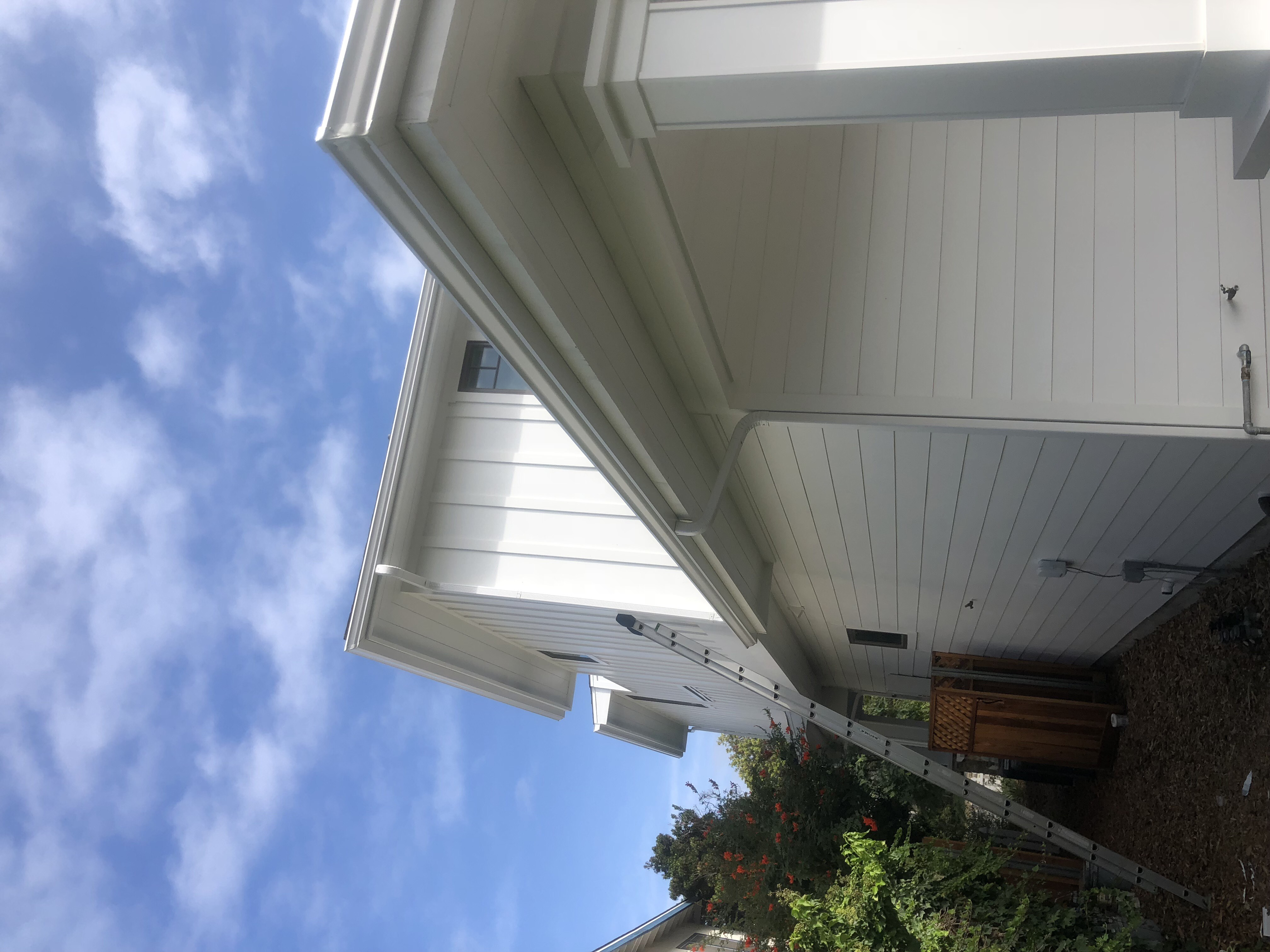 Before and after rain gutters