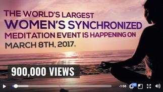 The World's Largest Women's Synchronized Meditation