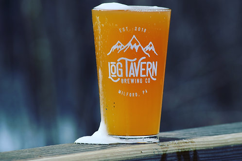 Pint Glass -Mountain Logo