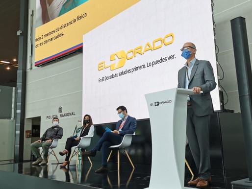 El Dorado presentó las medidas implementadas para el reinicio de vuelos nacionales