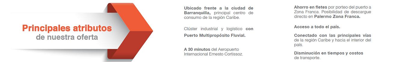 Palermo Zona Franca- Atributos de oferta en Barranquilla