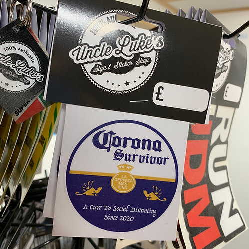Corona Survivor Slap Sticker