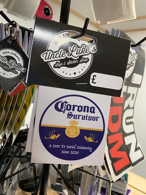 Corona Survivor Slap Sticker