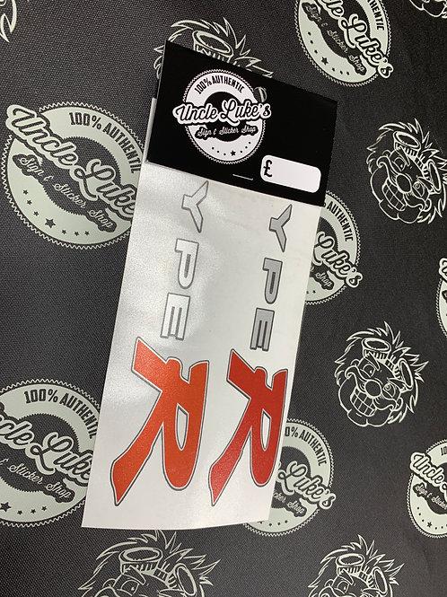 Type R Side Skirt Logos