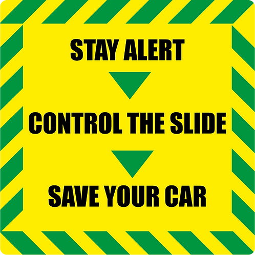 Stay Alert, Control The Slide - Slap Sticker