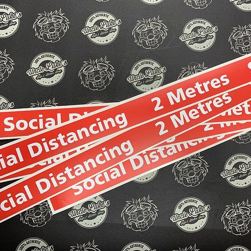Social Distance 2 Metre Marker Tape