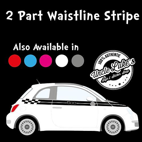 Fiat 500 Split Waistline Stripe
