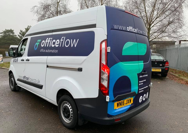 Office Flow Vehicle Graphics