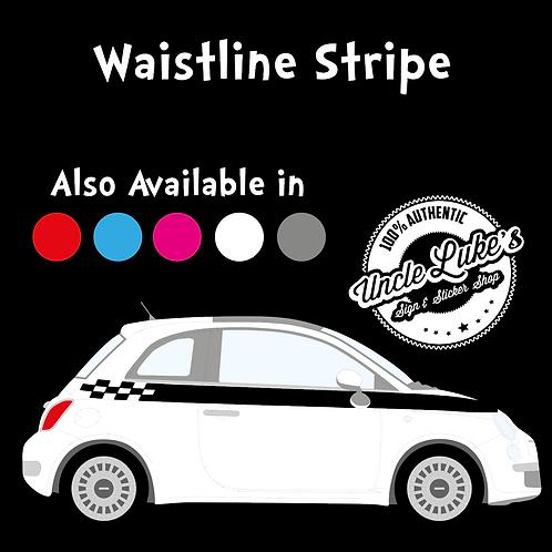 Fiat 500 Waistline Stripe