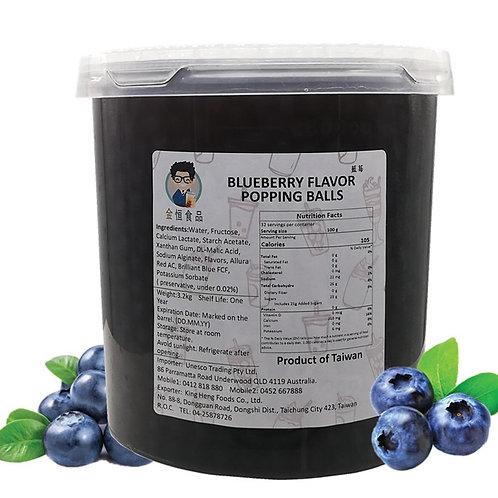 Blueberry Flavor Popping Ball (3.2kg)