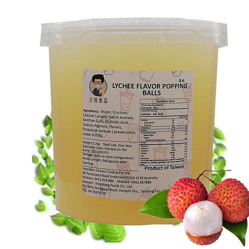 Lychee Flavor Popping Ball (3.2kg)